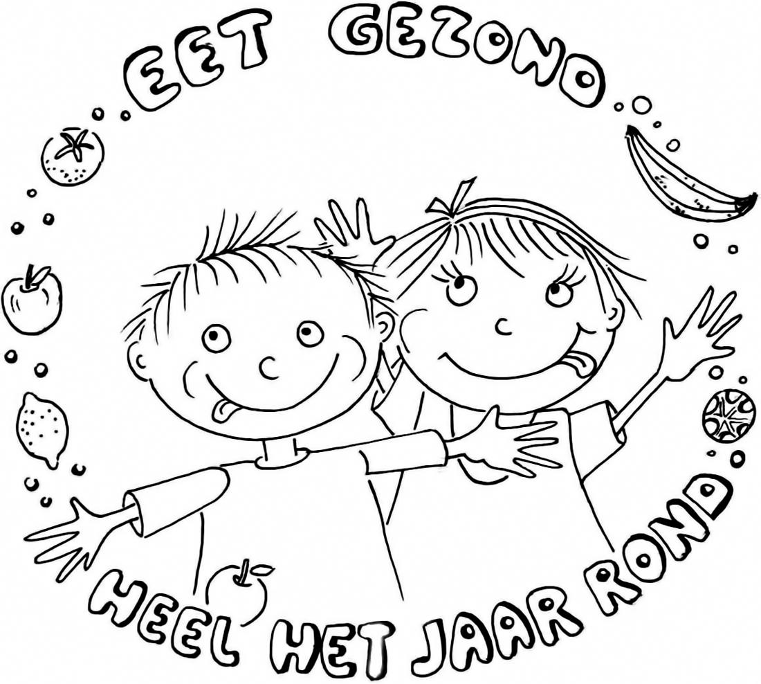 kinderboekenfestival suriname 187 kleurplaat gezonde voeding