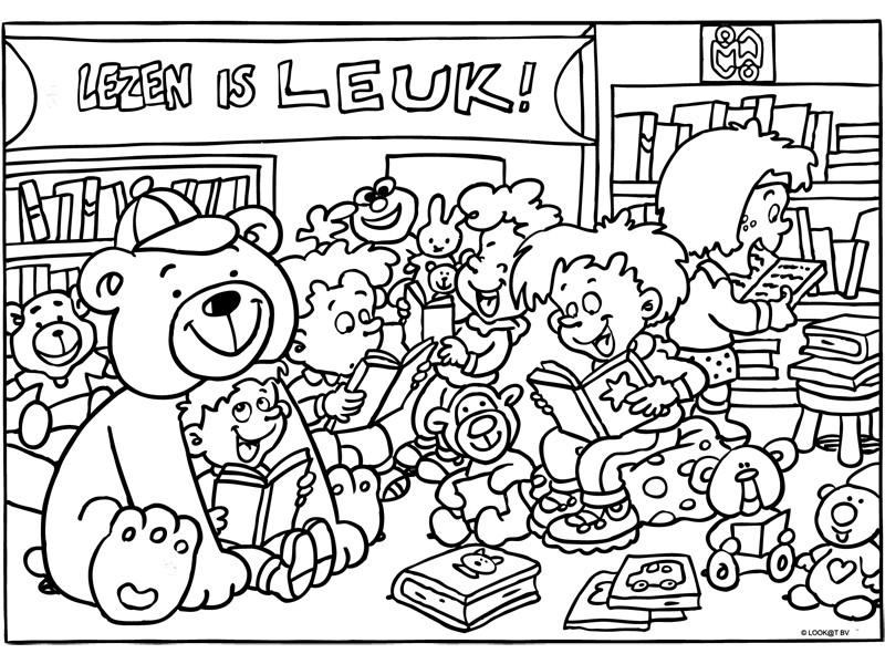 kinderboekenfestival suriname 187 kleurplaat lezen is leuk